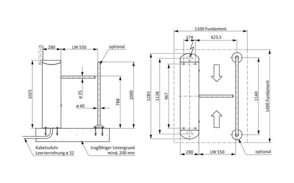 GU A-9003030_na00 Produkt-Zeichnung