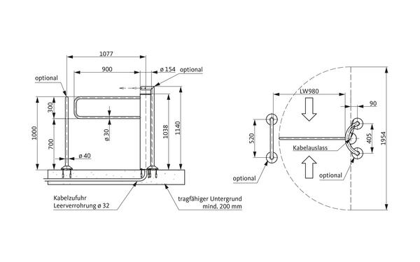 GU A-9003090_na00 Produkt-Zeichnung