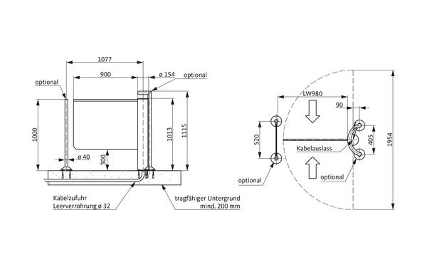GU A-9003100_na00 Produkt-Zeichnung