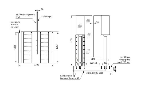 GU A-9003160_na00 Produkt-Zeichnung
