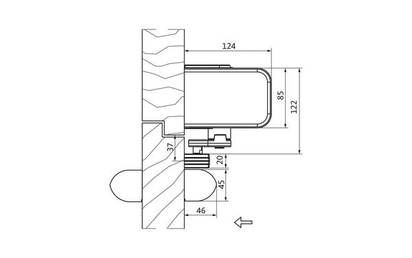 GU DTR_Zeichnung_01 Produkt-Zeichnung