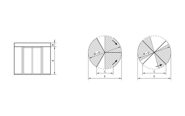 GU GSI_Karusselltuer_Ansichten Produkt-Zeichnung