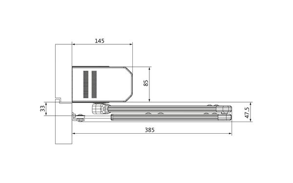 GU_Kopfmontage_BG_Scherenarm Produkt-Zeichnung