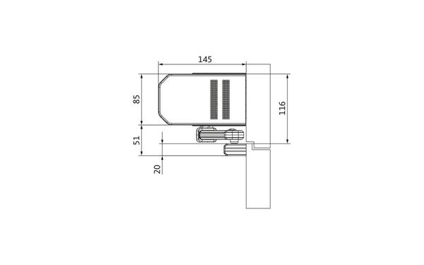 GU_Kopfmontage_BS_Gleitschiene Produkt-Zeichnung
