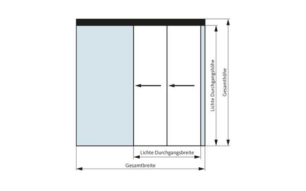 GU Teleskop_2flg_DEU Produkt-Zeichnung