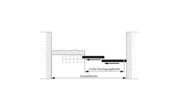 GU Teleskop_2flg_Draufsicht_DEU Produkt-Zeichnung