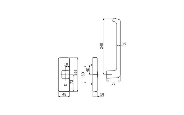 GU K-17241-00-R-X_na00 Produkt-Zeichnung
