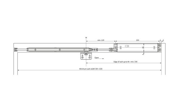 GU Oberlicht-Öffnungssystem VENTUS F 200 ELTRAL-S230E_Schere-geschlossen_ENG_8z5