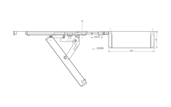 GU Oberlicht-Öffnungssystem VENTUS F 200 ELTRAL-S230E_Schere-offen_DEU_8z5