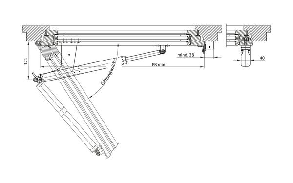 GU Öffnungssystem RWA 1050 RWA_1050_Masse_DEU_8z5