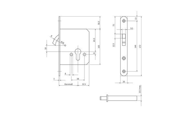 BKS 03710040_na00 Produkt-Zeichnung