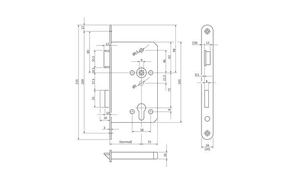 BKS 12011049_na00 Produkt-Zeichnung