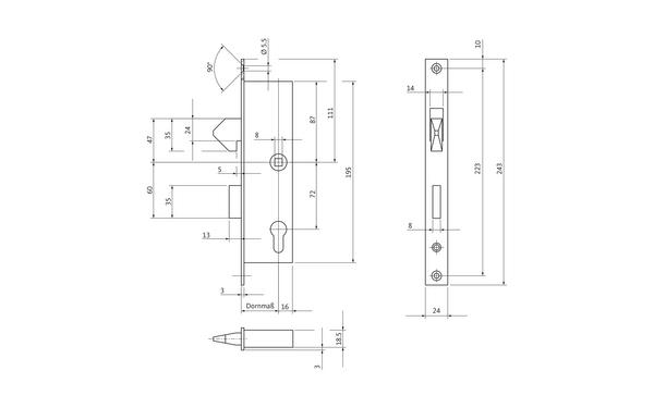 BKS 12050028_na00 Produkt-Zeichnung