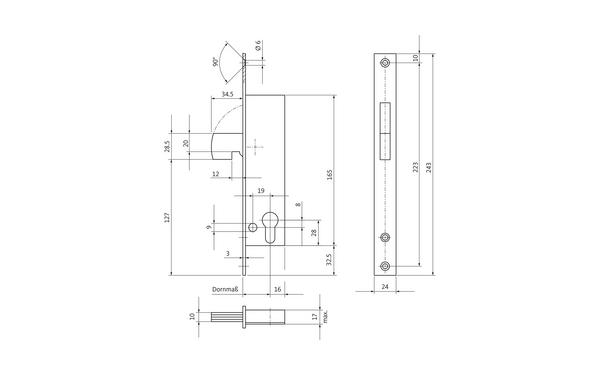 BKS 12050195_na00 Produkt-Zeichnung