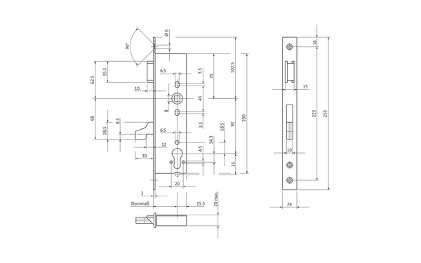 BKS 14250017_na00 Produkt-Zeichnung