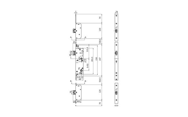 BKS 6-38611-13-L-X_na00 Produkt-Zeichnung