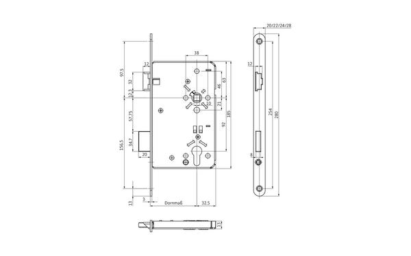 BKS B-00240-01-L-X_na00 Produkt-Zeichnung