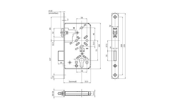 BKS B-00550-00-0-X_na00 Produkt-Zeichnung