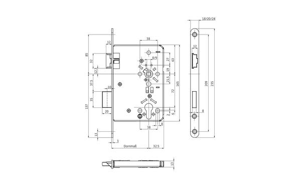 BKS B-05150-09-L-X_na00 Produkt-Zeichnung