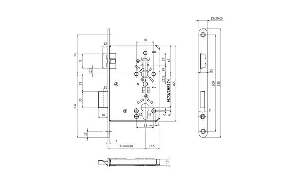 BKS B-06150-11-L-X_na00 Produkt-Zeichnung