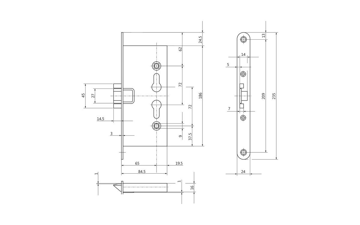 B 1125 Fire Protection Door Lock As Single Latch Version Gu Latching Circuits Schematic Picture Gretsch Unitas
