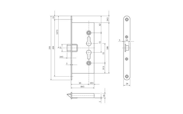 BKS B-11250-01-U-X_na00 Produkt-Zeichnung