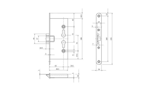 BKS B-11250-03-U-X_na00 Produkt-Zeichnung