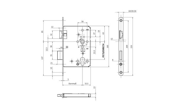 BKS B-12060-50-L-X_na00 Produkt-Zeichnung