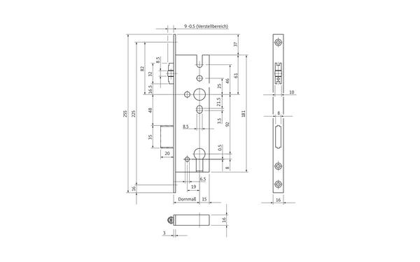 BKS B 1300 0101_na00 Produkt-Zeichnung
