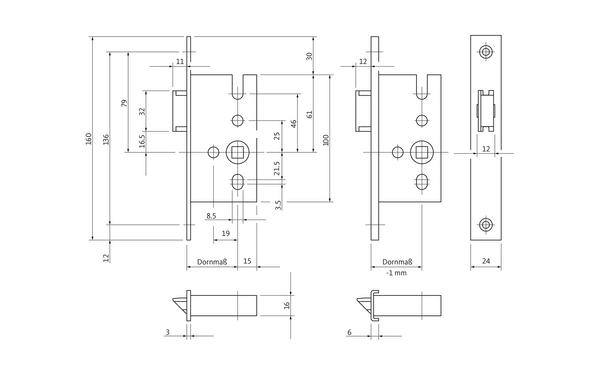 BKS B 1307 0001_na00 Produkt-Zeichnung