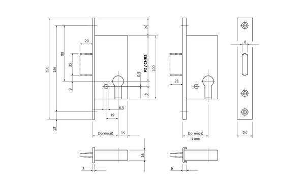 BKS B 1308 0001_na00 Produkt-Zeichnung