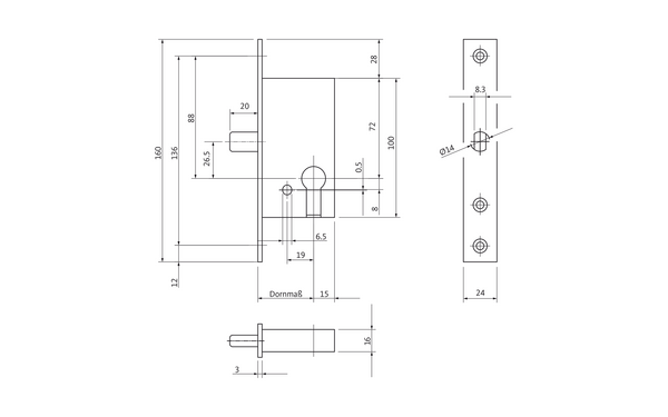 BKS B 1308 2001_na00 Produkt-Zeichnung