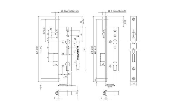 BKS B 1315 0001_na00 Produkt-Zeichnung