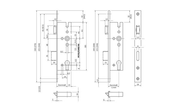 BKS B 1316 0243_na00 Produkt-Zeichnung
