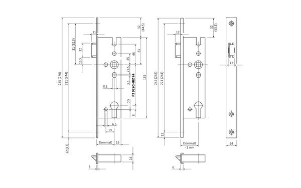 BKS B 1327 0001_na00 Produkt-Zeichnung