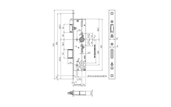 BKS B-18220-00-L-X_na00 Produkt-Zeichnung