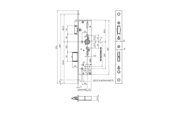 BKS B-18230-01-L-X_na00 Produkt-Zeichnung