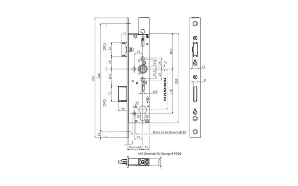 BKS B-18320-00-L-X_na00 Produkt-Zeichnung