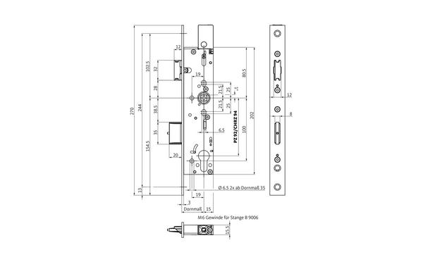 BKS B-18330-00-L-X_na00 Produkt-Zeichnung