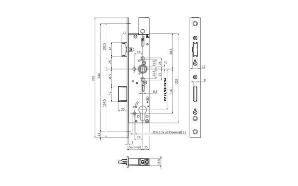 BKS B-18390-00-U-X_na00 Produkt-Zeichnung