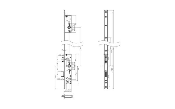 BKS B-18450-03-U-X_na00 Produkt-Zeichnung