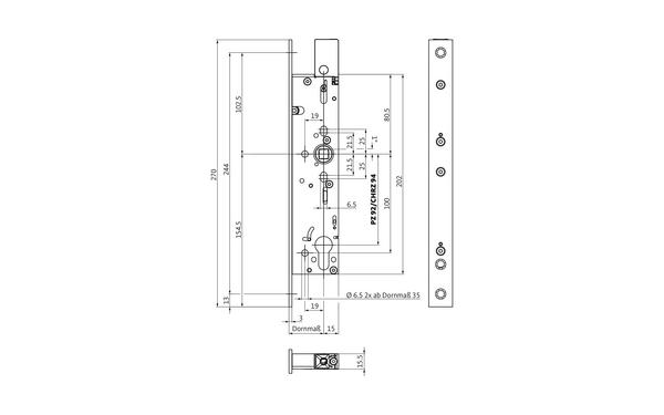 BKS B-18660-00-U-X_na00 Produkt-Zeichnung