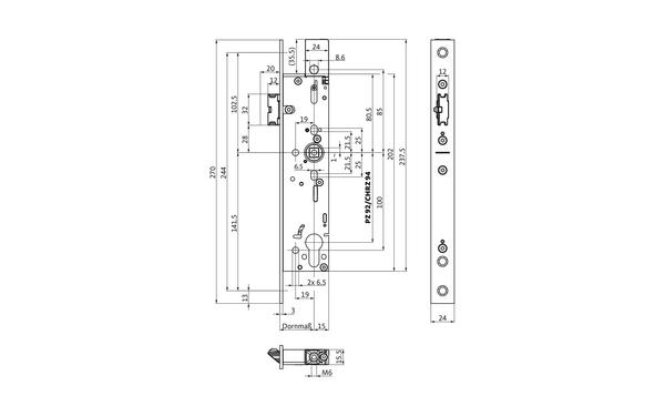 BKS B-19000-00-U-X_na00 Produkt-Zeichnung