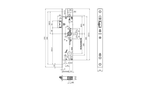 BKS B-19010-00-U-X_na00 Produkt-Zeichnung