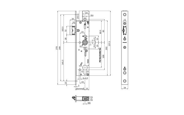 BKS B-19020-00-U-X_na00 Produkt-Zeichnung