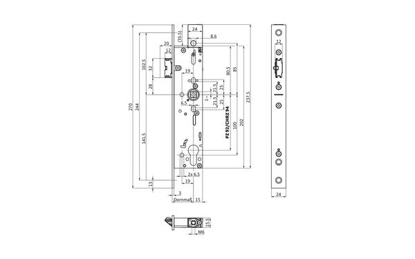 BKS B-19030-00-U-X_na00 Produkt-Zeichnung