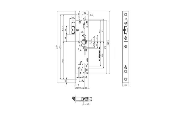 BKS B-19070-00-U-X_na00 Produkt-Zeichnung