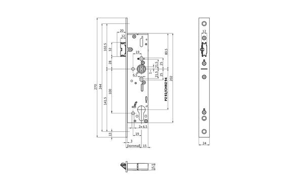 BKS B-19100-00-U-X_na00 Produkt-Zeichnung