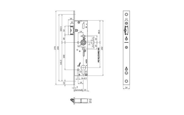 BKS B-19110-00-U-X_na00 Produkt-Zeichnung