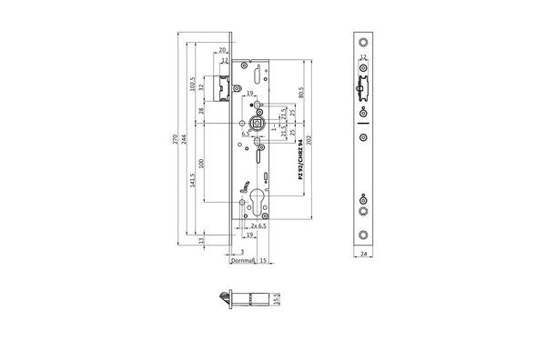 BKS B-19120-00-U-X_na00 Produkt-Zeichnung